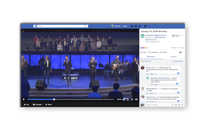 Facebook Live Tips for Churches