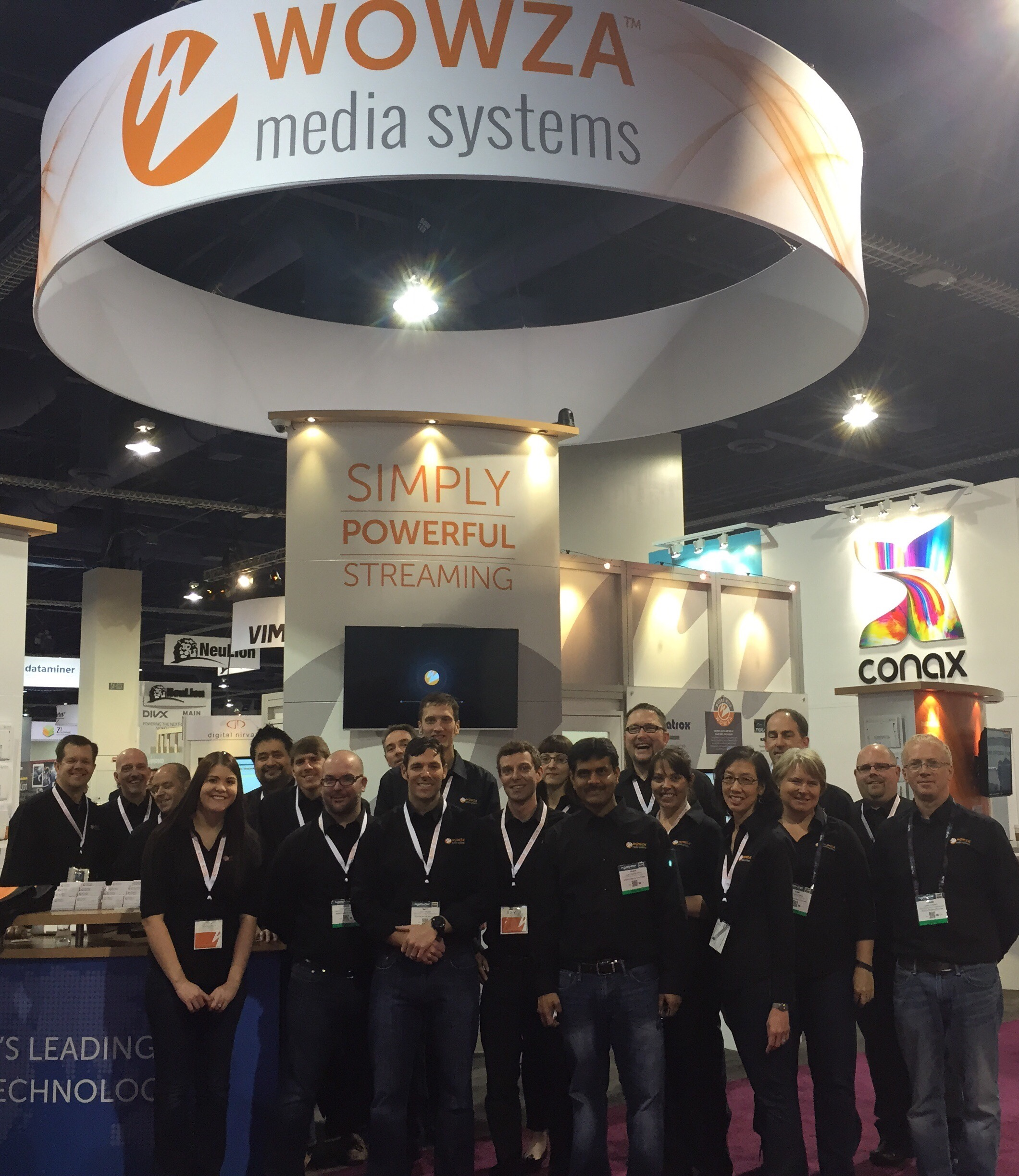 Wowza Media Systems Team at NAB 2015 Show