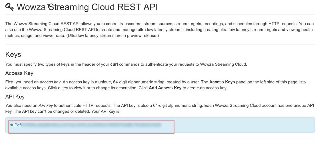Using Wowza Streaming Cloud With the Ultra Low Latency API