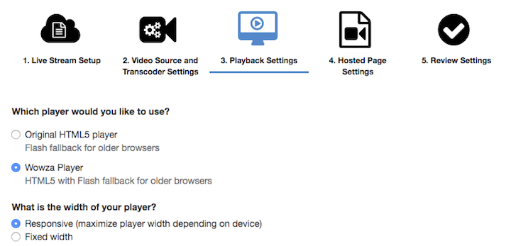 Wowza Streaming Cloud playback setting