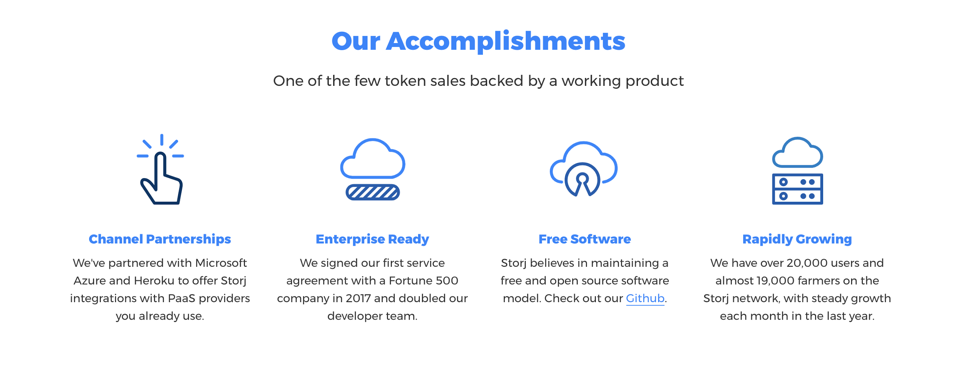 StorJ Accomplishments