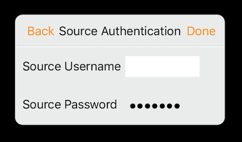 Wowza GoCoder source authentication