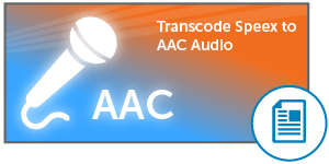 Transcode Speex to AAC Audio