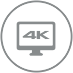 4K streaming icon