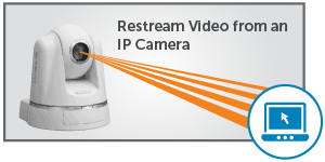 restream video from IP cameras