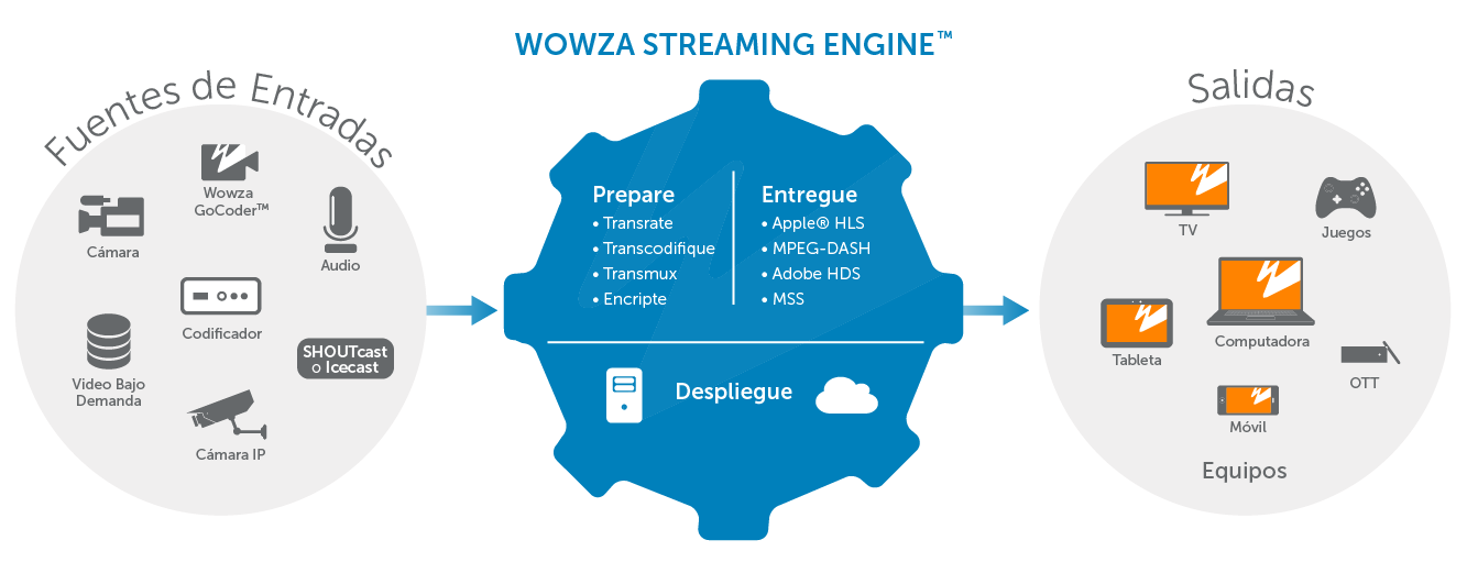 Wowza Streaming Engine diagram explicativo