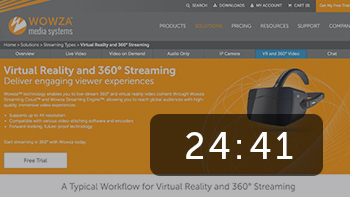 Virtual Reality and 360-degree Live Streaming with Wowza