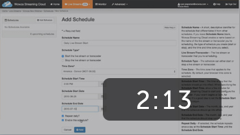 Schedule Live Streams to Start and Stop Automatically with Wowza Streaming Cloud