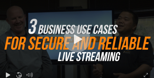 Video: 3 Use Cases for Live Streaming
