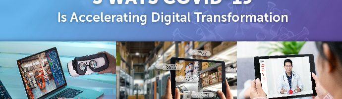 Title Image: 5 Ways COVID-19 Is Accelerating Digital Transformation