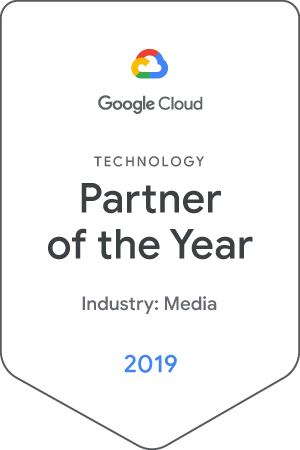 google cloud technology partner of the year badge