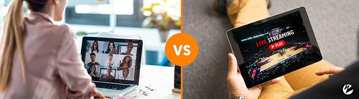 low latency hls vs webrtc graphic