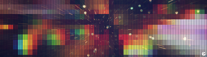 Pixilated image to represent lossy compression of H.264/AVC codec.