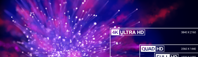 Different streaming resolutions, including 8K ULTRA HD, 4K ULTRA HD, QUAD HD, FULL HD, and HD.