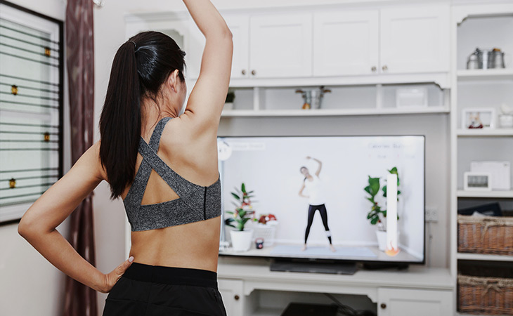 Digital Fitness in the Form of a Live Stream Yoga Class