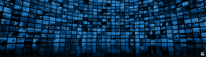 An image of countless monitors showing different video streams.