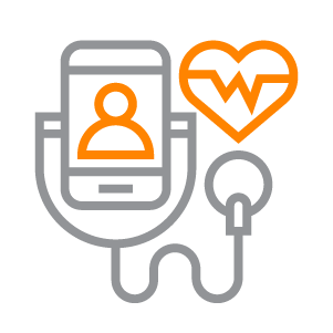 An icon depicting a smart medical device.