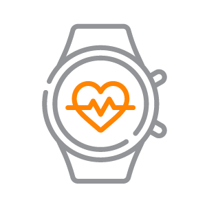 An icon depicting a wearable smart watch.