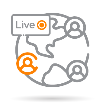 live streaming globe icon
