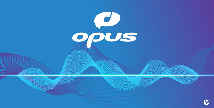 Opus Logo With Sound Waves
