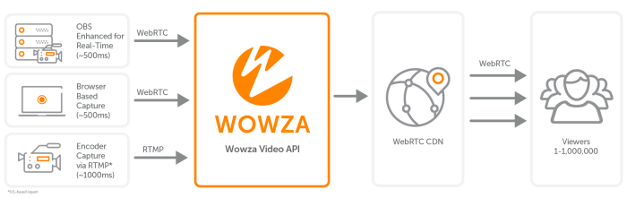 Real-Time Streaming at Scale for Wowza Streaming Cloud Workflow to support sub-second delivery to millions.