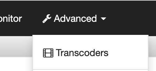 Advanced dropdown menu in Wowza Streaming Cloud to adjust transcoder settings for RTSP to WebRTC Streaming.
