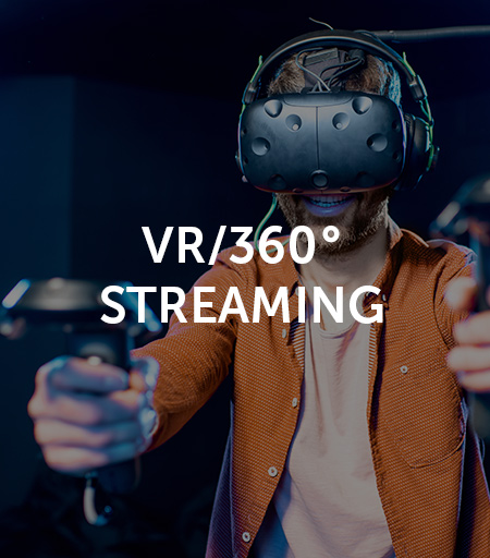 vr and 360 degree streaming