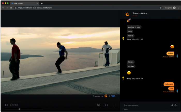 Sample Live Stream Chat