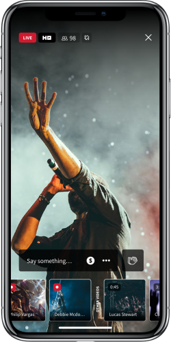 Flits Mobile App Concert Stream