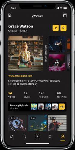 Flits Mobile App Screenshot: Music Profile