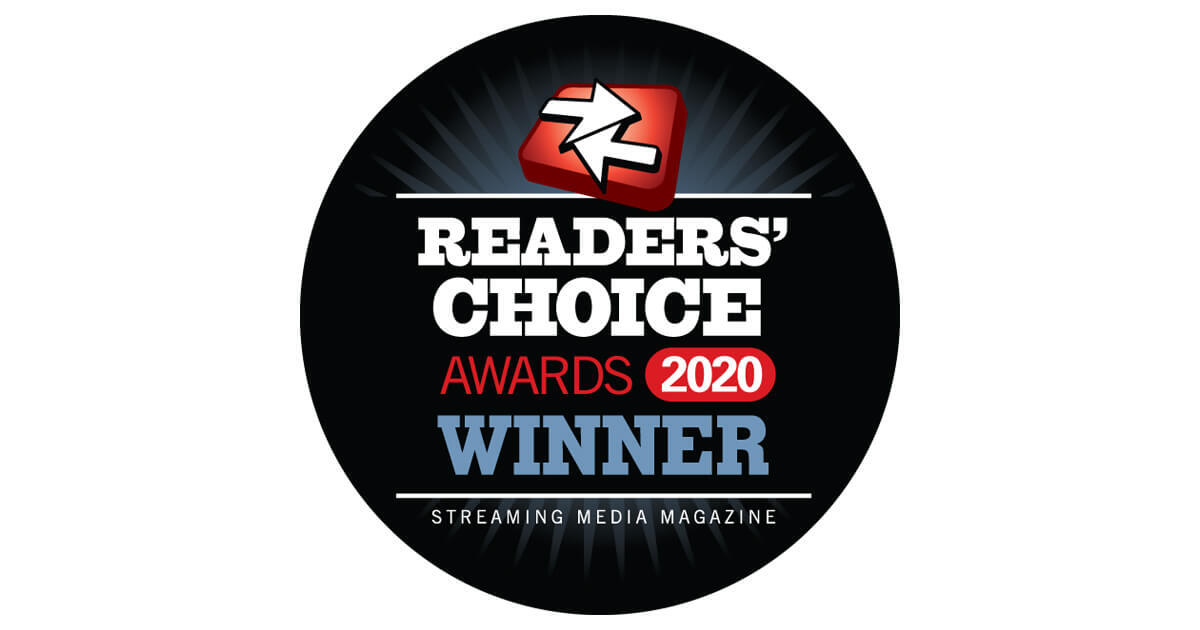 streaming media readers' choice awards graphic