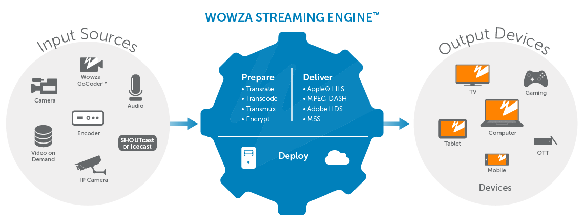 Transcoding to Support Different Protocols With Wowza Streaming Engine
