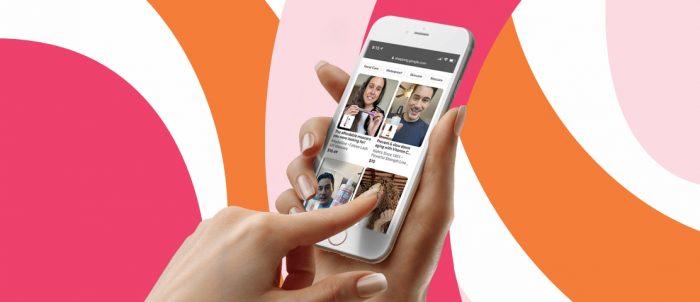 Ulta's shoppable video platform on a mobile app.